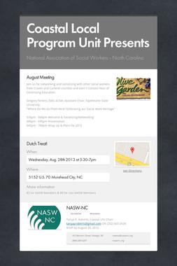 Coastal Local Program Unit Presents