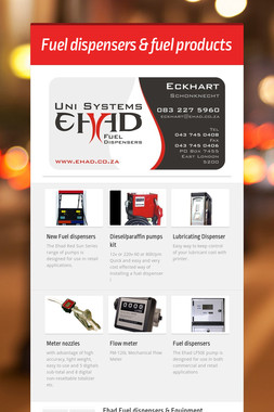 Fuel dispensers & fuel products