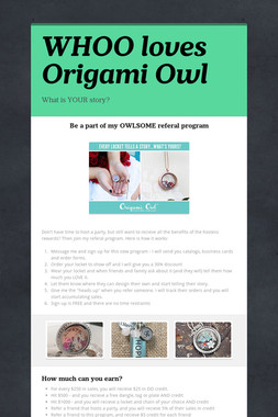 WHOO loves Origami Owl