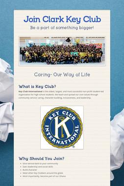 Join Clark Key Club