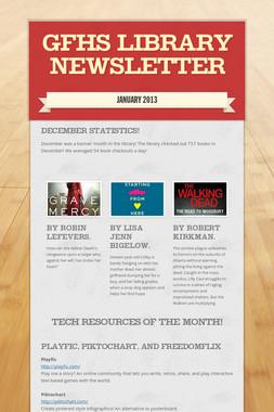 GFHS Library Newsletter