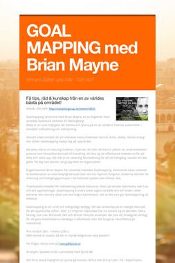 GOAL MAPPING med Brian Mayne