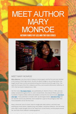 Meet Author Mary Monroe