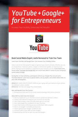 YouTube + Google+ for Entrepreneurs