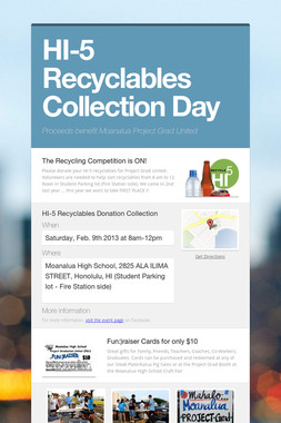 HI-5 Recyclables Collection Day