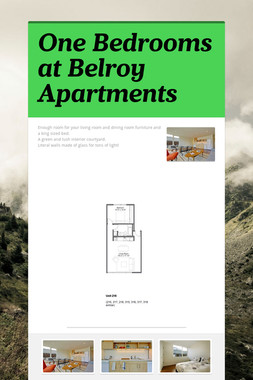 One Bedrooms at Belroy Apartments
