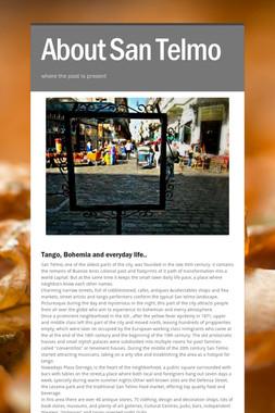 About San Telmo