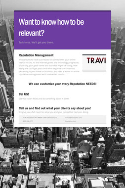Want to know how to be relevant?