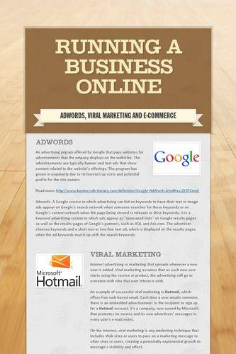 Running a business online