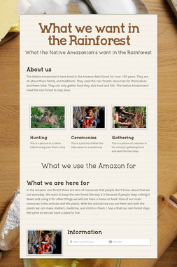 What we want in the Rainforest