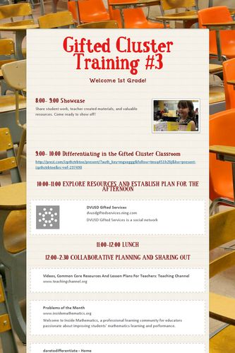 Gifted Cluster Training #3