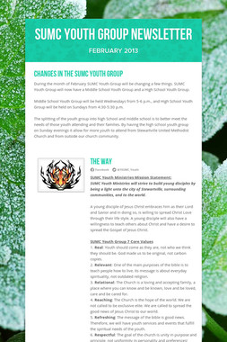 SUMC YOUTH GROUP NEWSLETTER