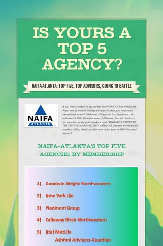 Is yours a Top 5 Agency?