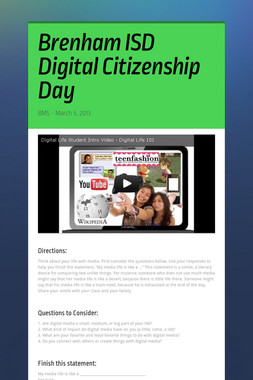 Brenham ISD Digital Citizenship Day