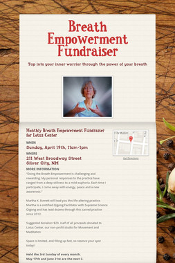 Breath Empowerment Fundraiser