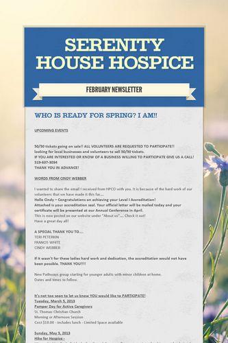 Serenity House Hospice