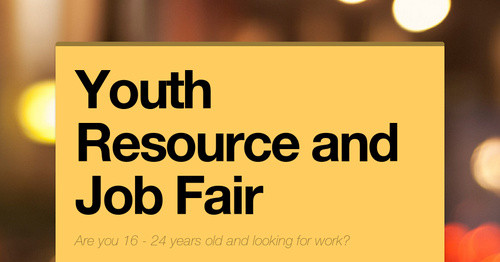 youth resource and job fair