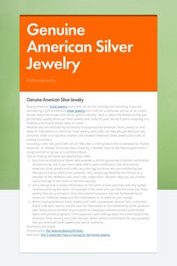 Genuine American Silver Jewelry