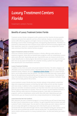 Luxury Treatment Centers Florida