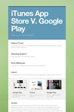 iTunes App Store V. Google Play
