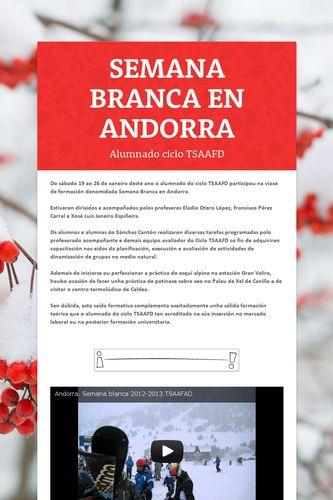 SEMANA BRANCA EN ANDORRA