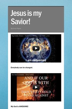 Jesus is my Savior!