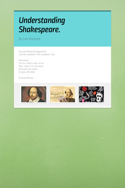 Understanding Shakespeare.