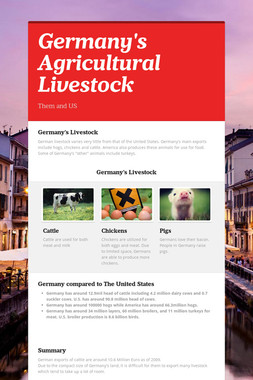 Germany's Agricultural Livestock