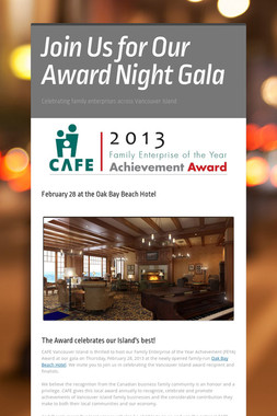 Join Us for Our Award Night Gala