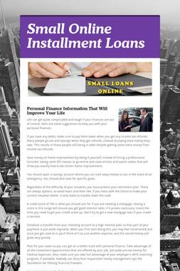 Small Online Installment Loans