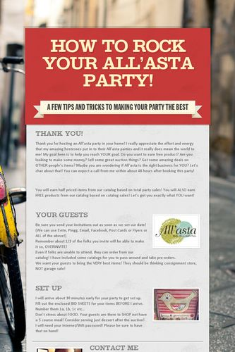 How to ROCK your All'asta Party!