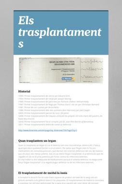 Els trasplantaments