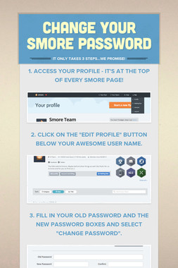 Change your Smore Password