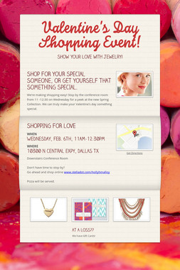 Valentine's Day Shopping Event!
