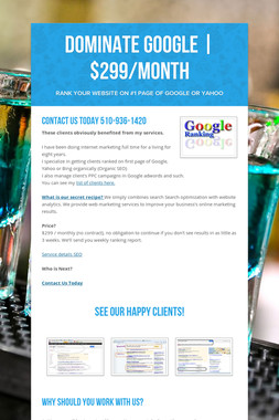 Dominate Google | $299/month