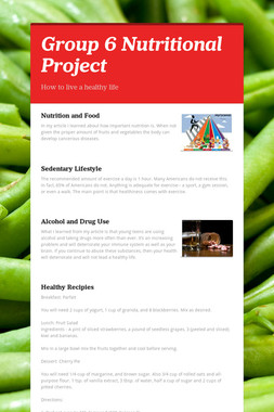 Group 6 Nutritional Project