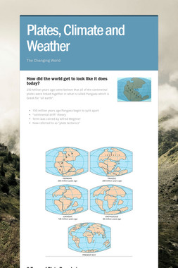 Plates, Climate and Weather