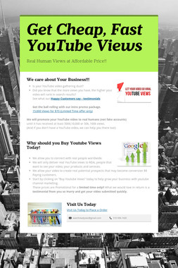 Get Cheap, Fast YouTube Views