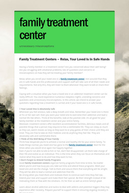 family treatment center