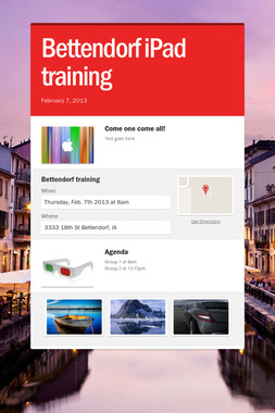 Bettendorf iPad training