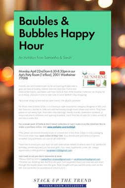Baubles & Bubbles Happy Hour
