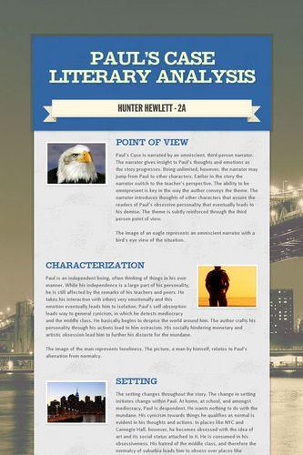 Paul's Case Literary Analysis