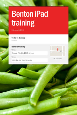 Benton iPad training