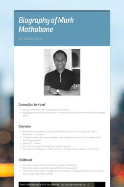 Biography of Mark Mathabane