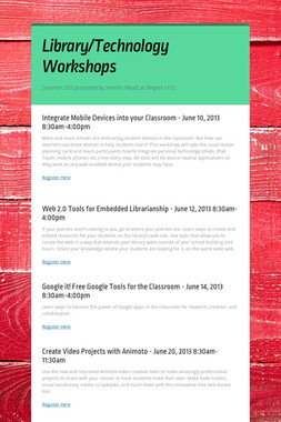 Library/Technology Workshops
