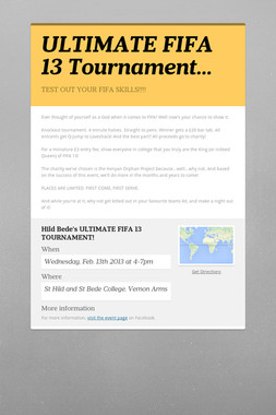 ULTIMATE FIFA 13 Tournament…