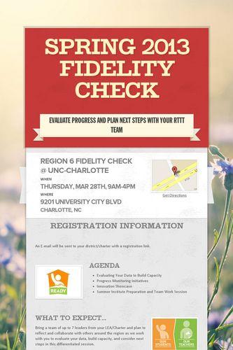 Spring 2013 Fidelity Check