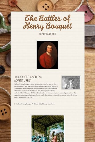 The Battles of Henry Bouquet