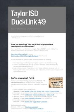 Taylor ISD DuckLink #9