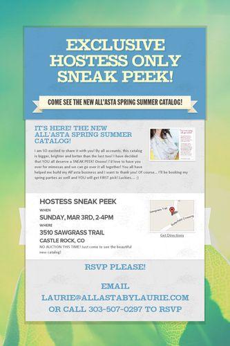 Exclusive Hostess ONLY Sneak Peek!
